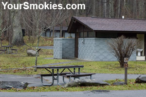Accessible campsite in Elkmont TN is near restrooms