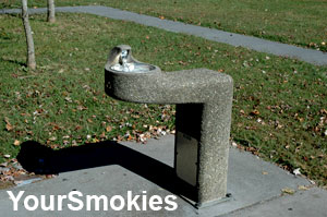 Accessible drinking fountain in the Smoky Mountains