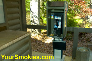 Accessible telephone at Cades Cove Rangers station