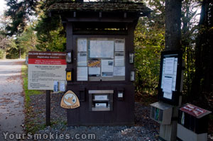 Check in Area at Balsam Mountain Campgrounds