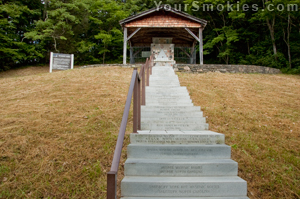 Balsam Mountain Steps to Masonic Monument