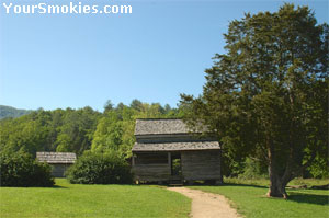 Dan Lawson homestead with original smokehouse.