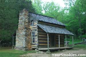 The John Oliver Cabin was built in the late 1820's.