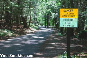 Bike Riders must be carefull on steep grades