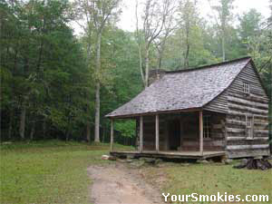 Historical cabins can be found in Cades Cove