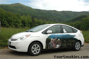 Hybrid Park Service Vehicle in Cades Cove