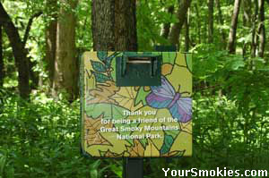 Give when you see a Friends of the Smokies donations box