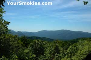 Beautiful view of Smoky Mountains from the Roaring Fork