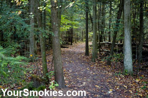 Gatlinburg Trail: wooded areas, homesteads and rivers