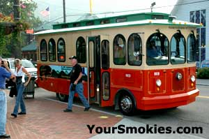 Gatlinburg TN trolly from Town to the National Park