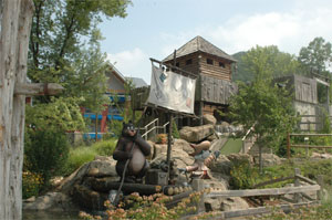 Outdoor mini golfing in the TN Smokies