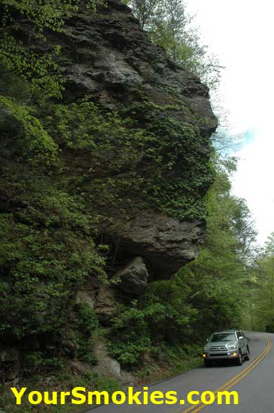 Indian Head Cliff on Little River Road