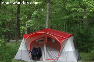 photo of Camping in the woods all throughout the NC & TN Smokies