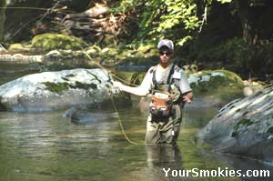 Wading can let you cast right where the fish are found.