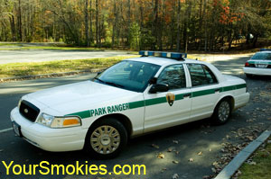 Great Smoky Mountains National Park ranger car