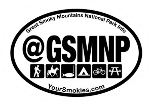 Show your support with a Your Smokies Bumper Sticker Decal that measures 3.5 by 5.125 inches.